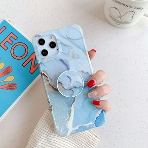 Blue IPhone 12 Pro Max Case Marble & Holder